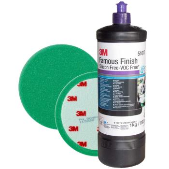 3M Perfect-it III Famous Finish BUNDLE 51677 1 kg + Velcro Green Compound Head 50487 1 pc